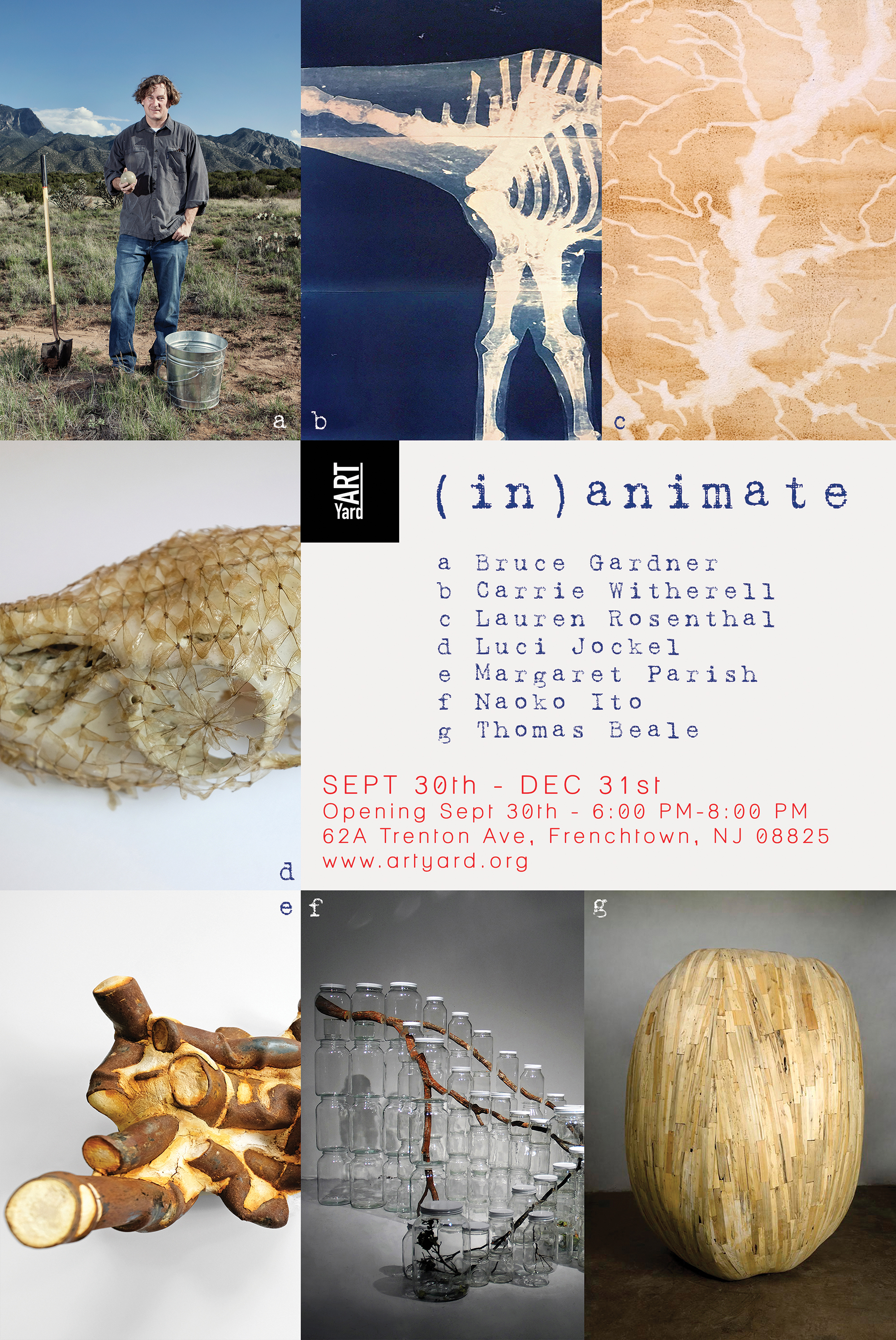 Opening of (in)animate. @ ArtYard | Frenchtown | New Jersey | United States