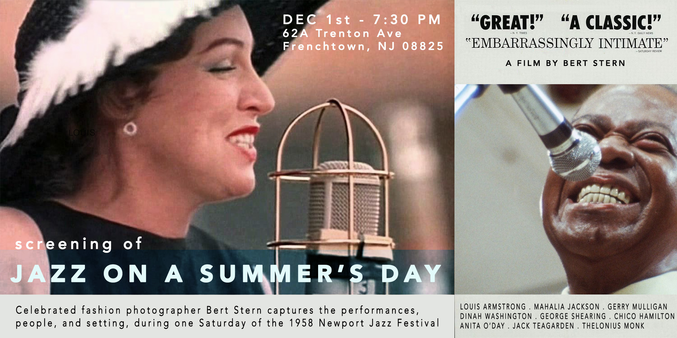 Screening of Jazz On A Summer's Day. @ ArtYard's Theater | East Atlantic Beach | New York | United States