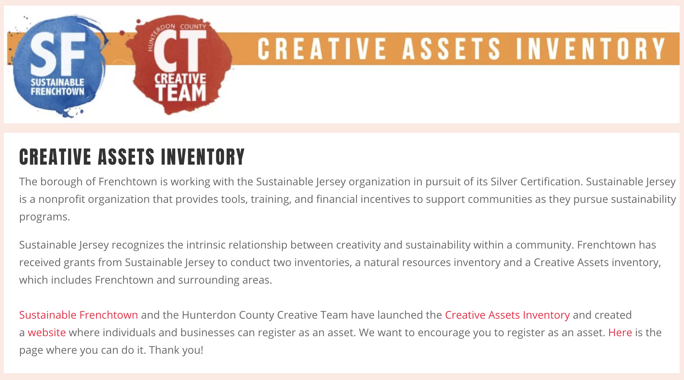 About the Creative Assets Inventory