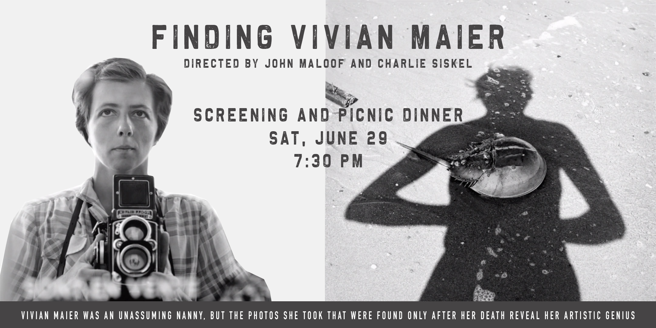 Screening of Finding Vivian Maier, Followed by Picnic Dinner @ ArtYard's Theater | Frenchtown | New Jersey | United States