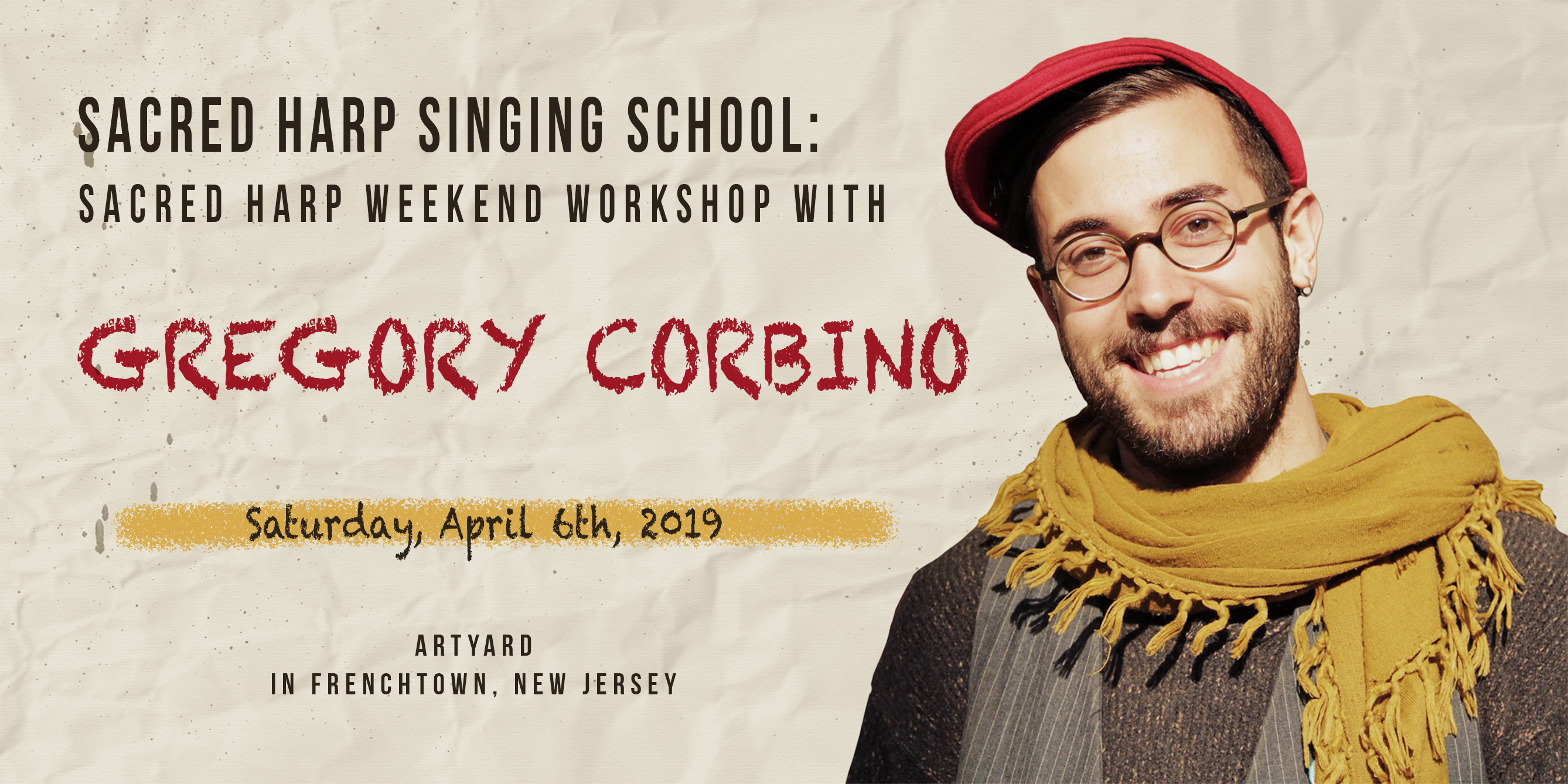 Sacred Heart Singing Weekend Workshop with Gregory Corbino (April) @ ArtYard's Theater | Frenchtown | New Jersey | United States