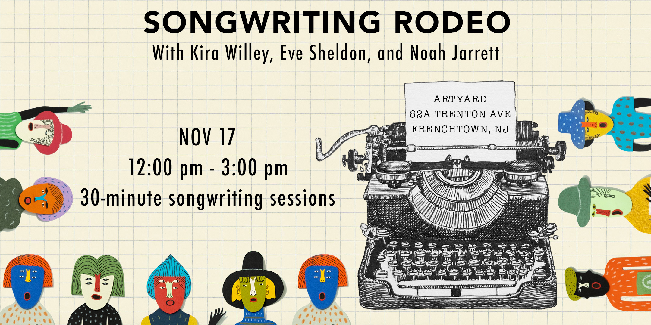 Songwriting Rodeo (SONGWRITING SESSION) @ ArtYard's Theater | Frenchtown | New Jersey | United States