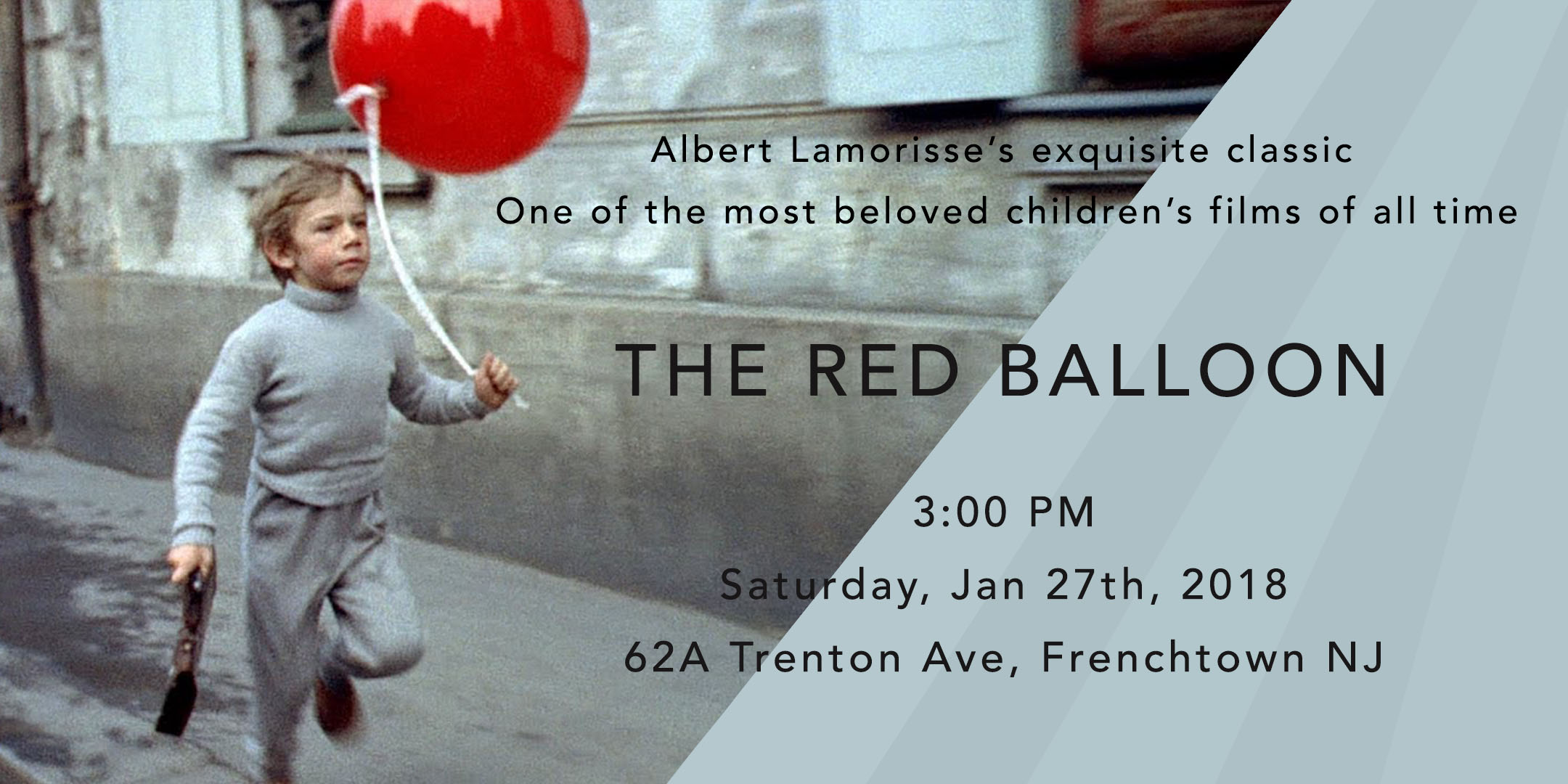 Screening of THE RED BALLOON @ ArtYard's Theater | Frenchtown | New Jersey | United States