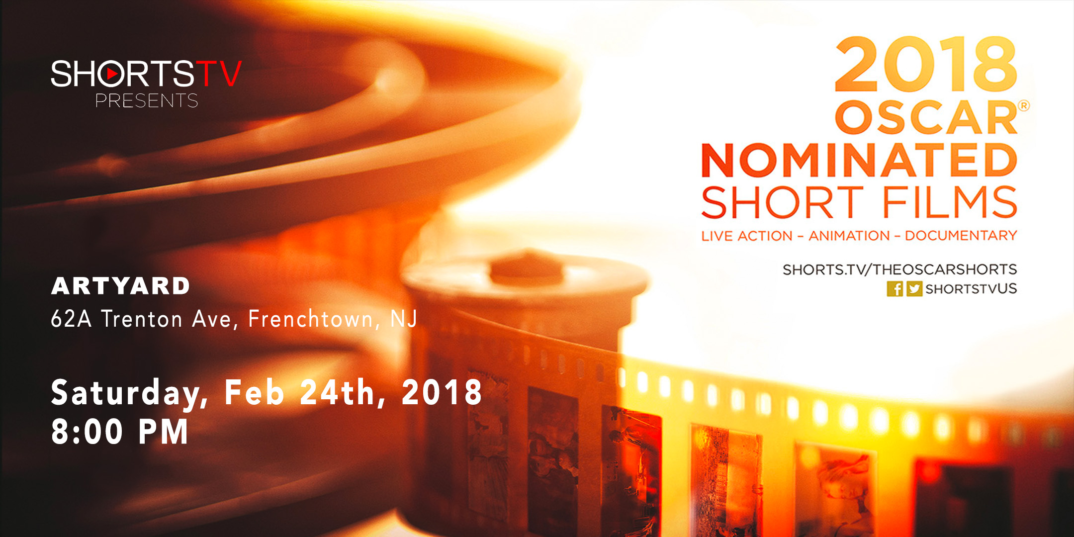 2018 Oscar Nominated Short Films. 8:00 PM SCREENING. @ ArtYard's Theater | Frenchtown | New Jersey | United States