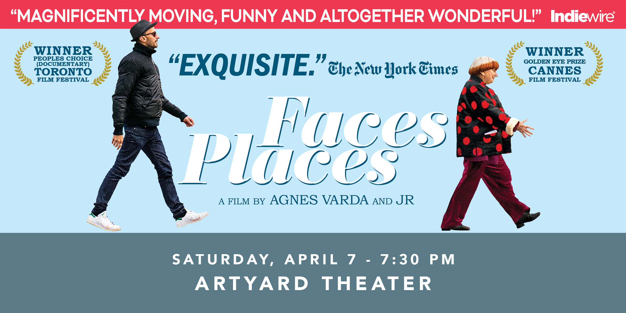 Screening of FACES PLACES @ ArtYard's Theater | Frenchtown | New Jersey | United States