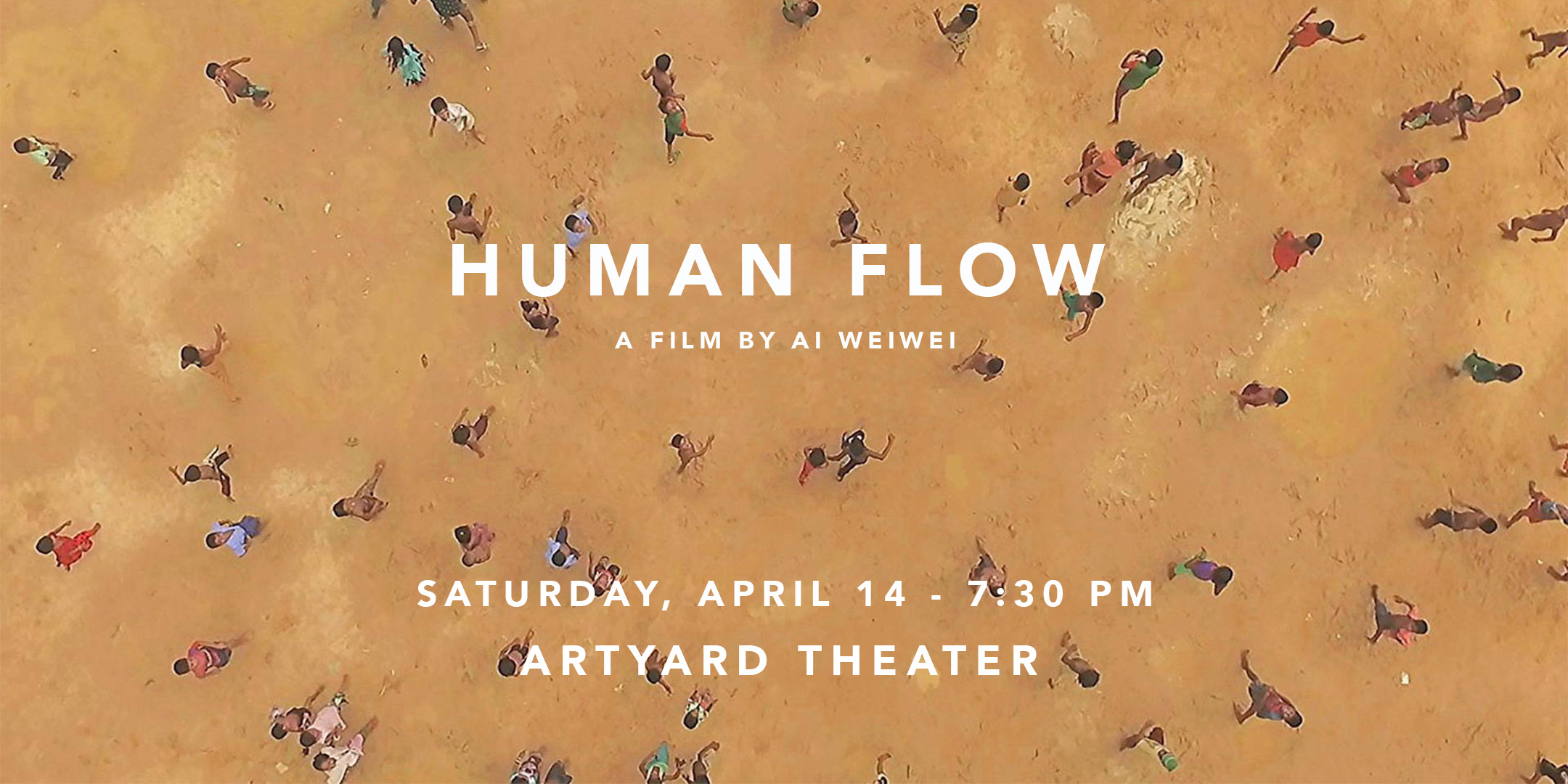 Screening of HUMAN FLOW @ ArtYard's Theater | Frenchtown | New Jersey | United States