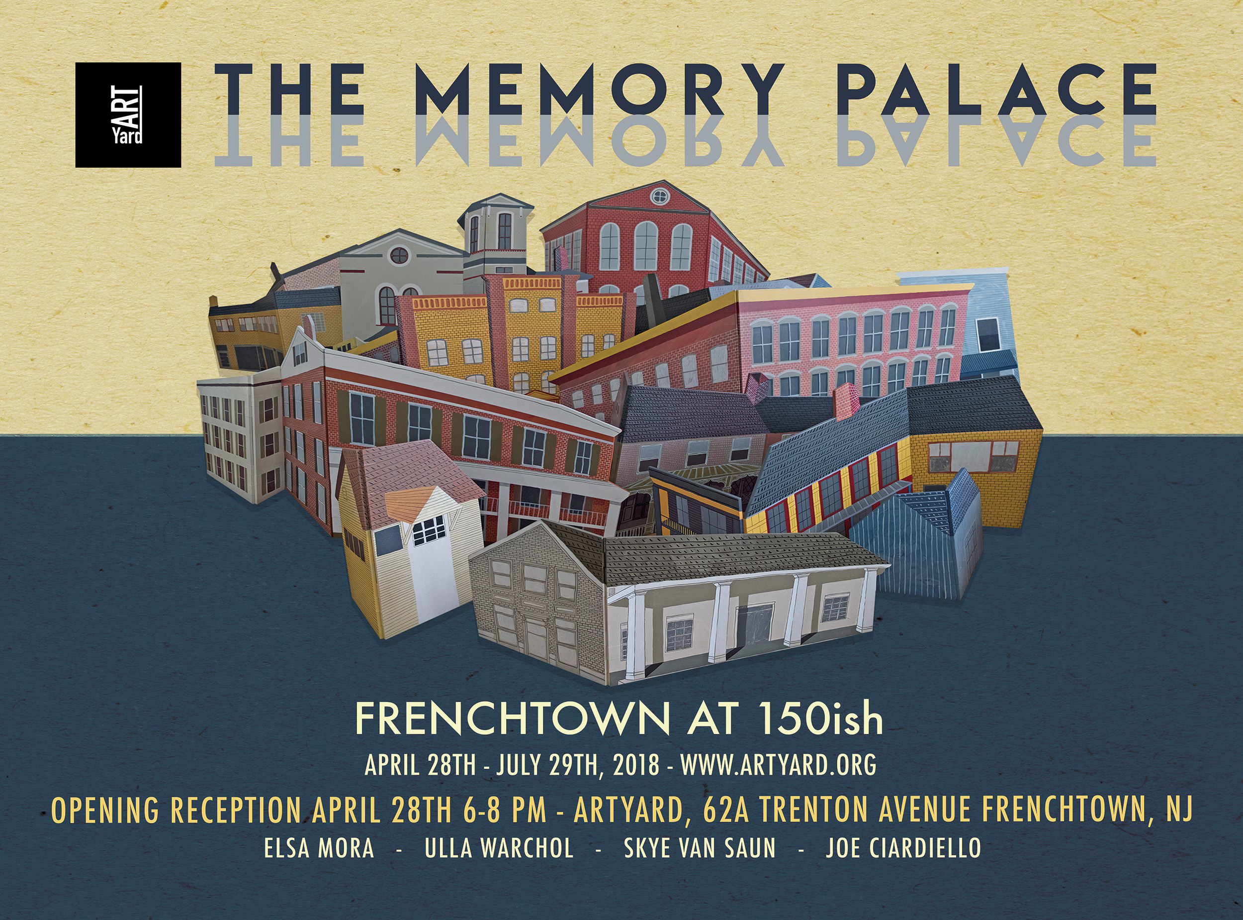 Opening of THE MEMORY PALACE @ ArtYard's Theater | Frenchtown | New Jersey | United States