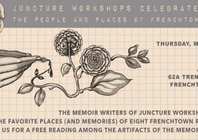 Juncture Workshop Reading (May 10, 2018)