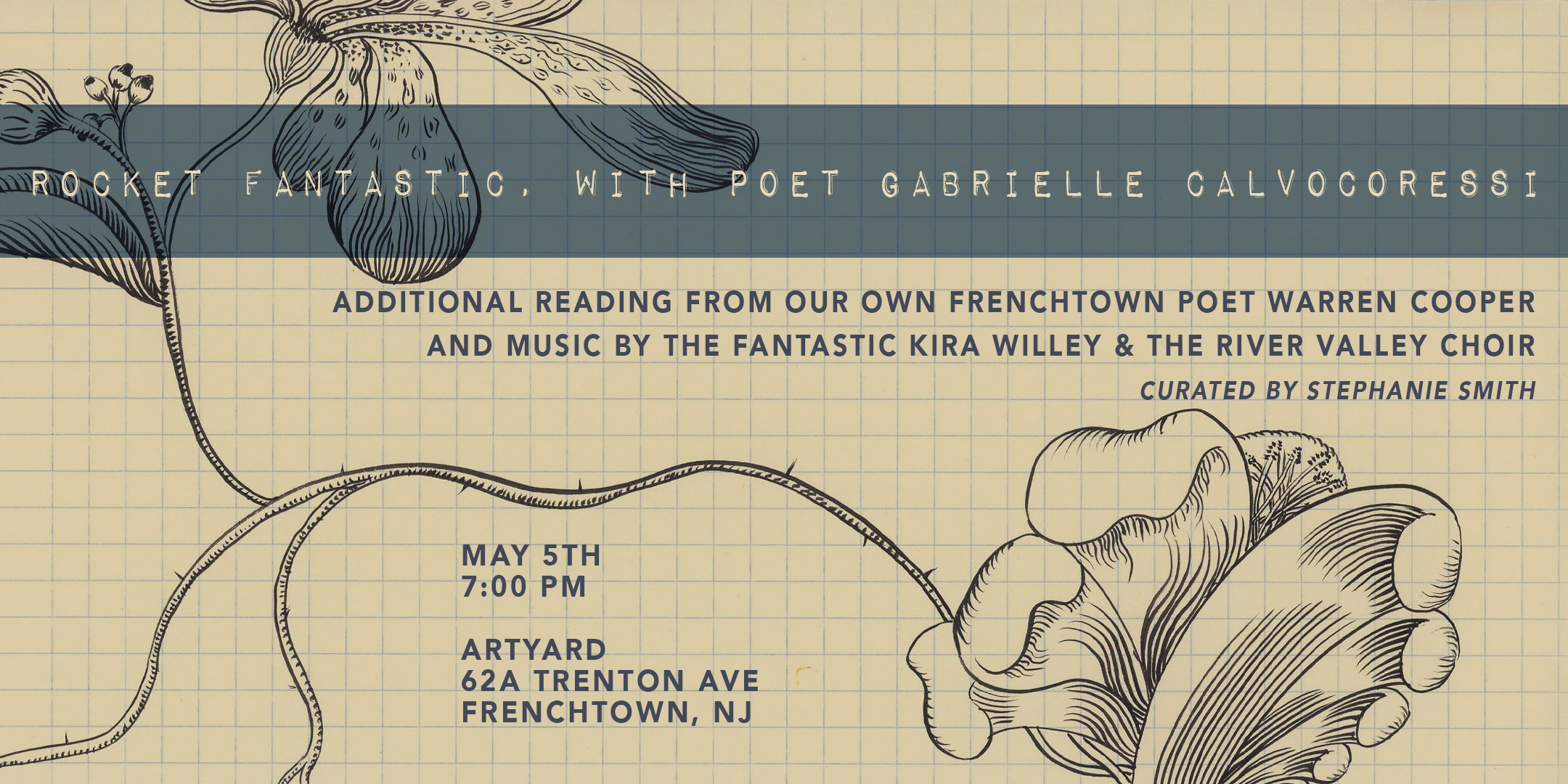 Rocket Fantastic with Poet Gabrielle Calvocoressi (FREE EVENT) @ ArtYard's Theater | Frenchtown | New Jersey | United States