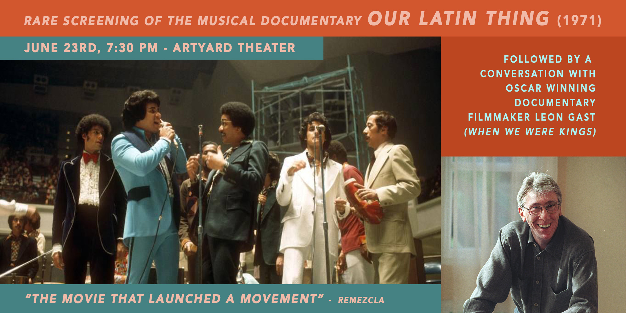 Rare screening of OUR LATIN THING and conversation with Oscar winning filmmaker LEON GAST @ ArtYard's Theater | Frenchtown | New Jersey | United States