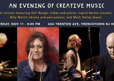 Karl Berger, Ingrid Sertso, Billy Martin, and Mark Helias in Concert