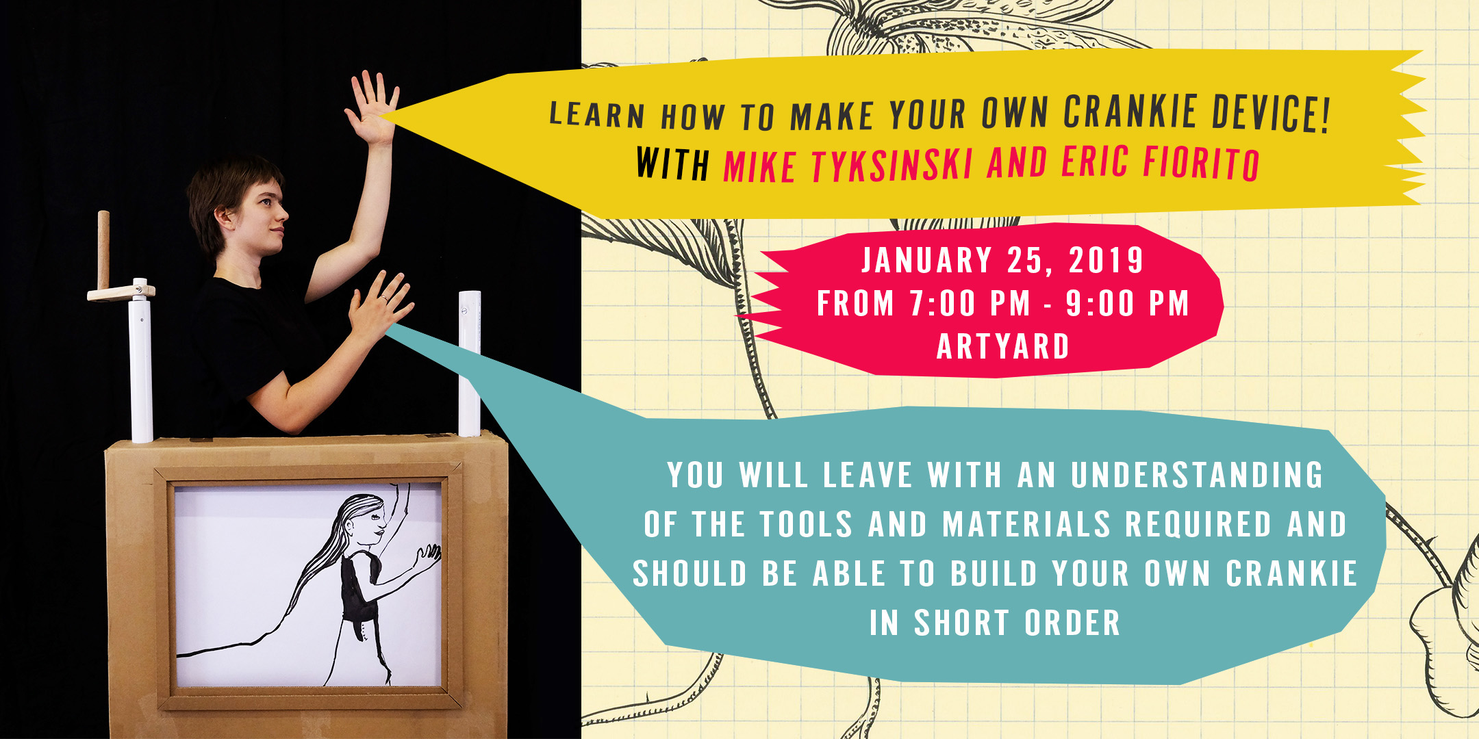 Learn how to Make Your Own Crankie Device! @ ArtYard's Theater | Frenchtown | New Jersey | United States