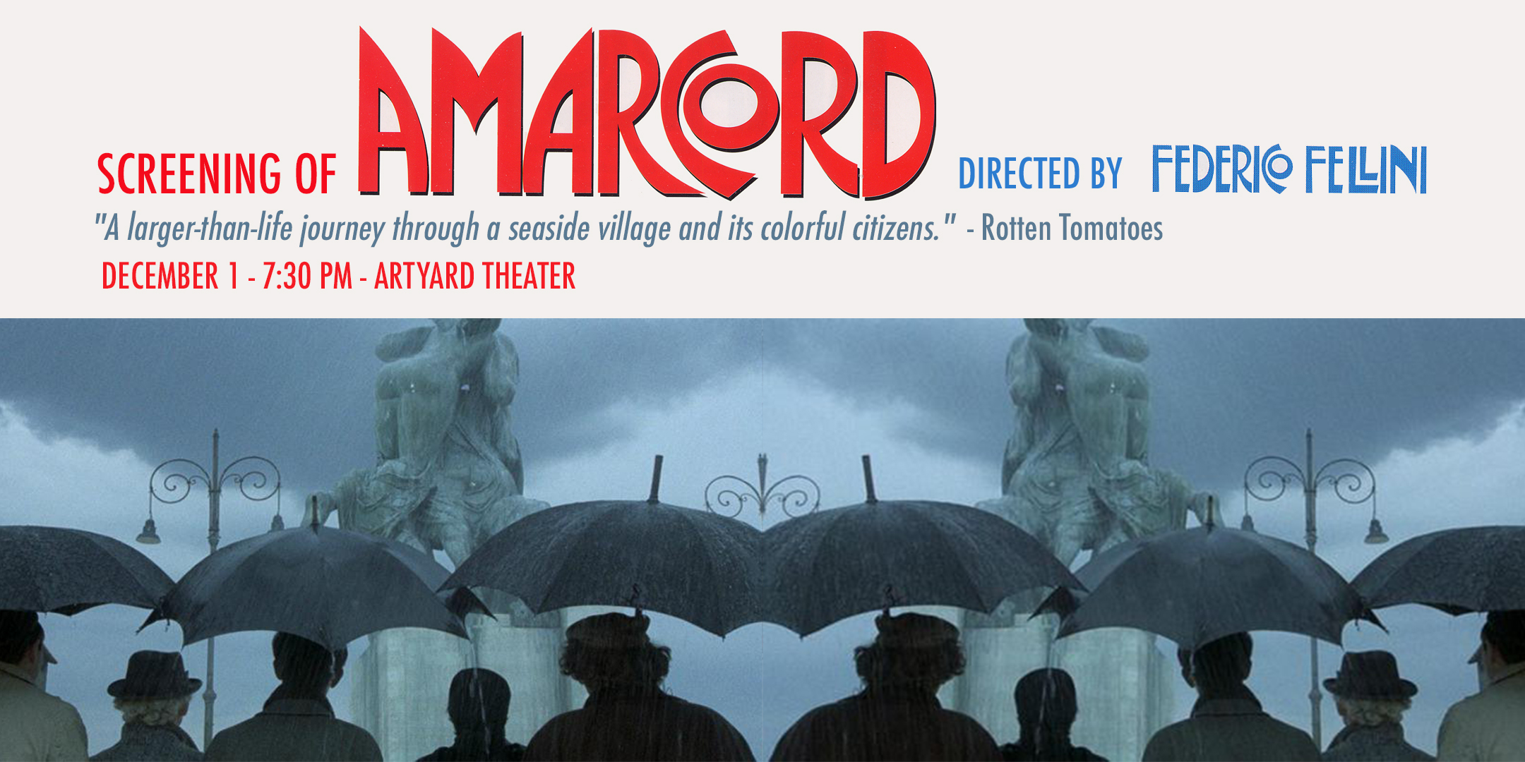 Screening of Amarcord @ ArtYard's Theater | Frenchtown | New Jersey | United States
