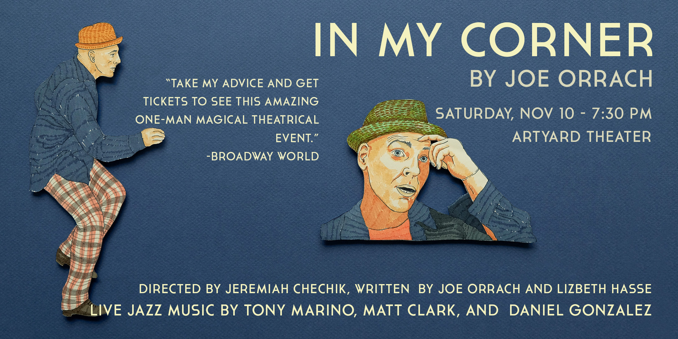 In my Corner by Joe Orrach @ ArtYard's Theater | Frenchtown | New Jersey | United States