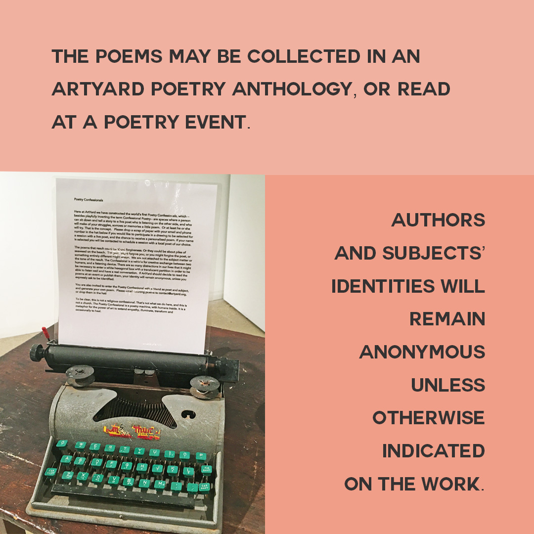 ArtYard Announces The Poetry Confessional | ArtYard