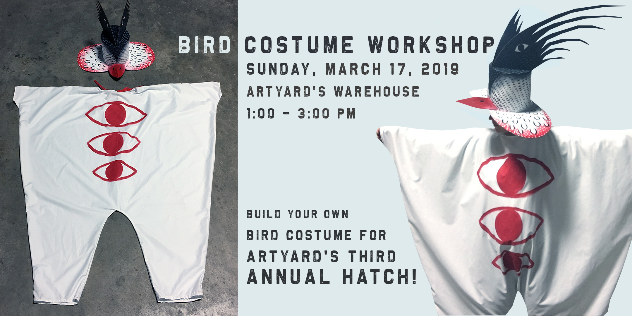 Bird Costume Workshop for ArtYard's Third Annual Hatch! @ ArtYard's Theater | Frenchtown | New Jersey | United States
