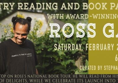 Poetry Reading and Book Party with Ross Gay (Feb 2, 2019)