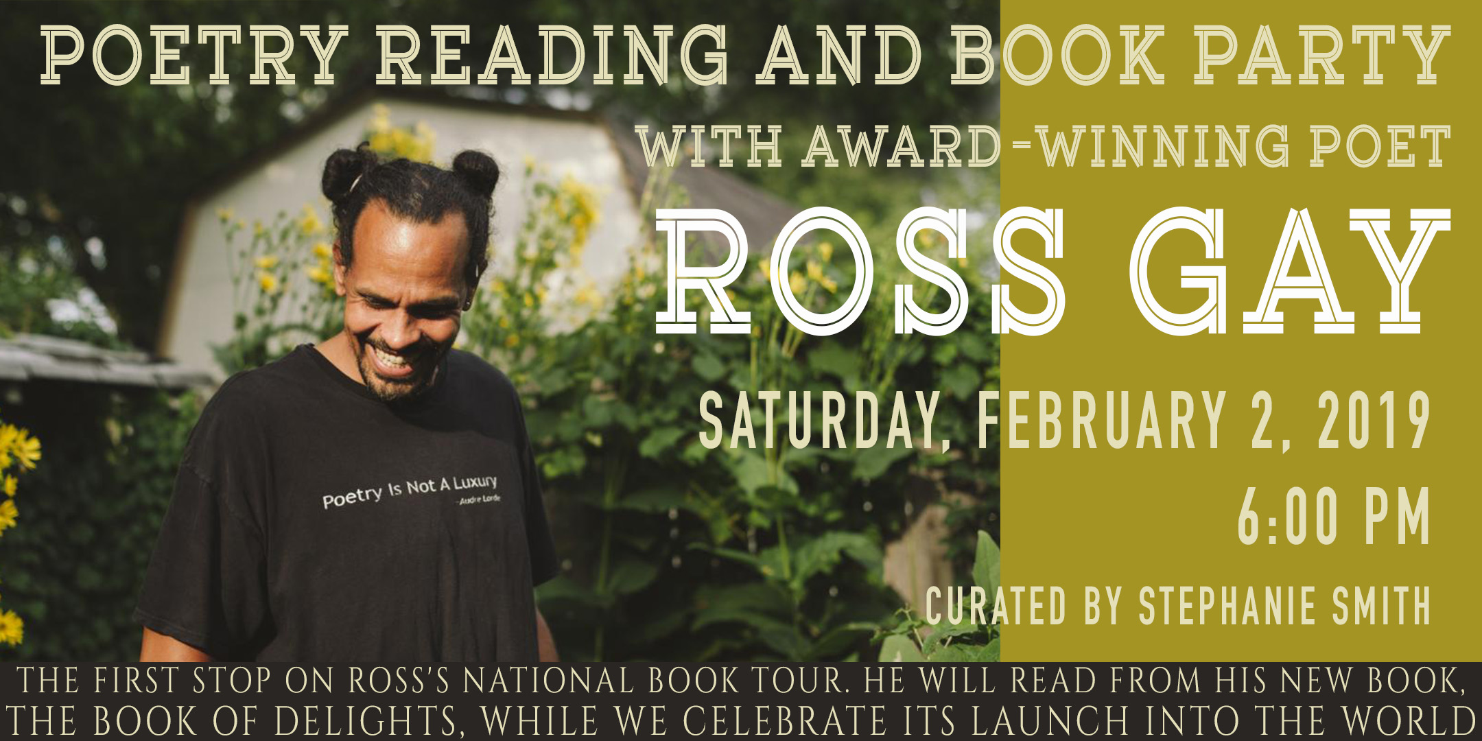 Poetry Reading and Book Party with Award-Winning Poet Ross Gay @ ArtYard's Theater | Frenchtown | New Jersey | United States