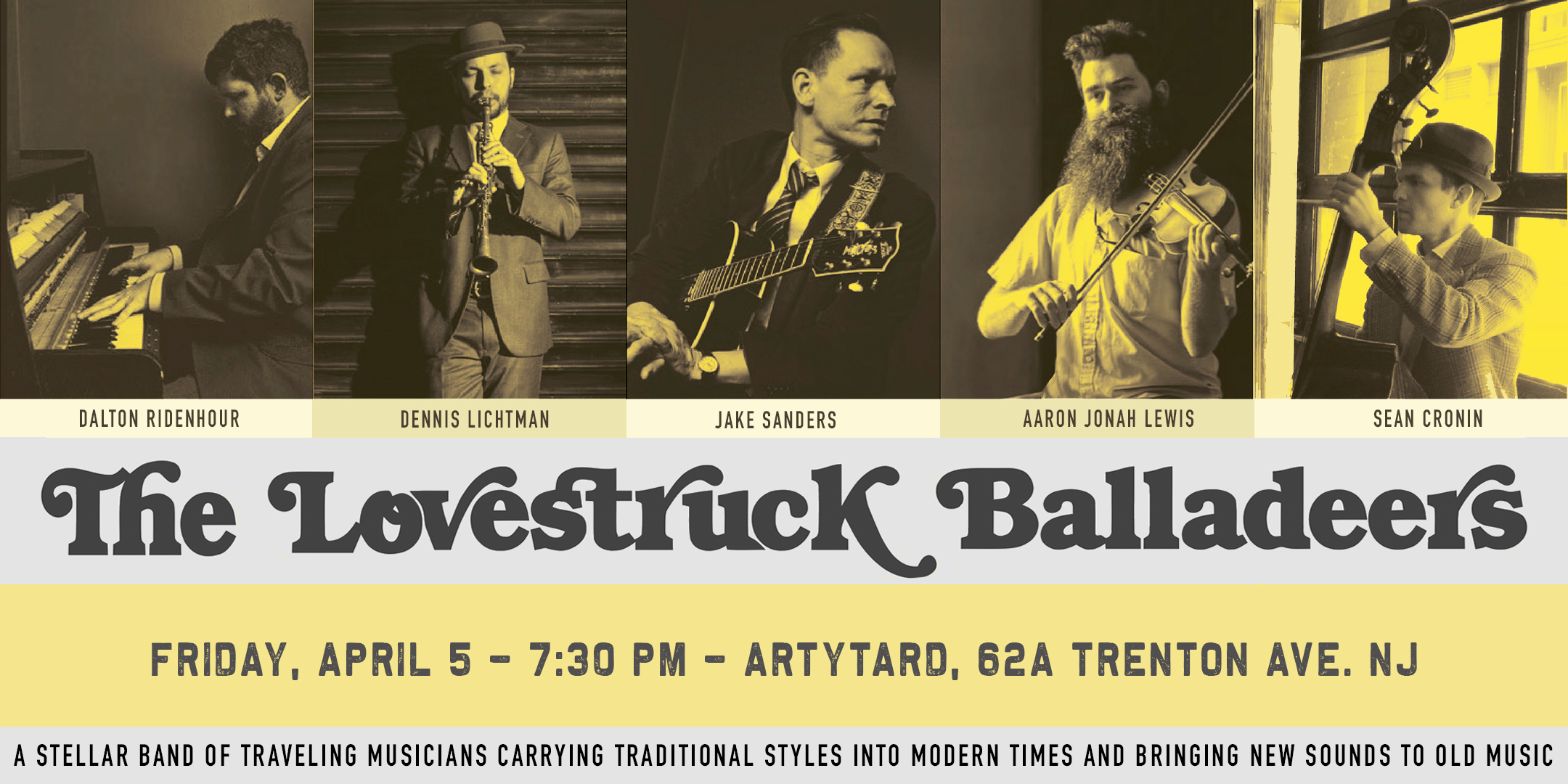 The Lovestruck Balladeers Concert @ ArtYard's Theater | Frenchtown | New Jersey | United States
