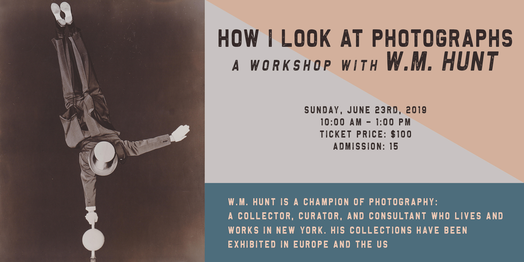 How I Look a Photographs - A workshop with W.M. Hunt @ ArtYard's Theater | Frenchtown | New Jersey | United States