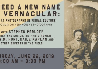 Symposium on Vernacular Photography (June 22 – 23, 2019)