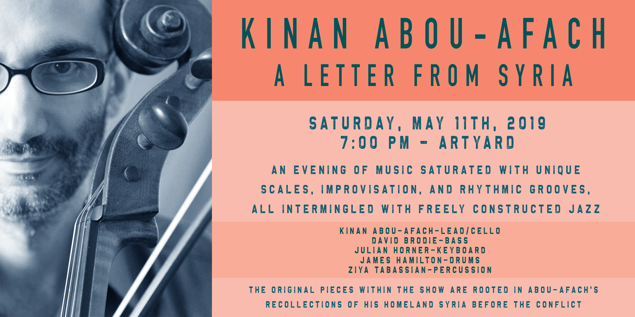 KINAN ABOU AFACH – A Letter from Syria. Concert. (May 11th, 2019)