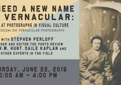 Symposium on Vernacular Photography (June 22-23, 2019)