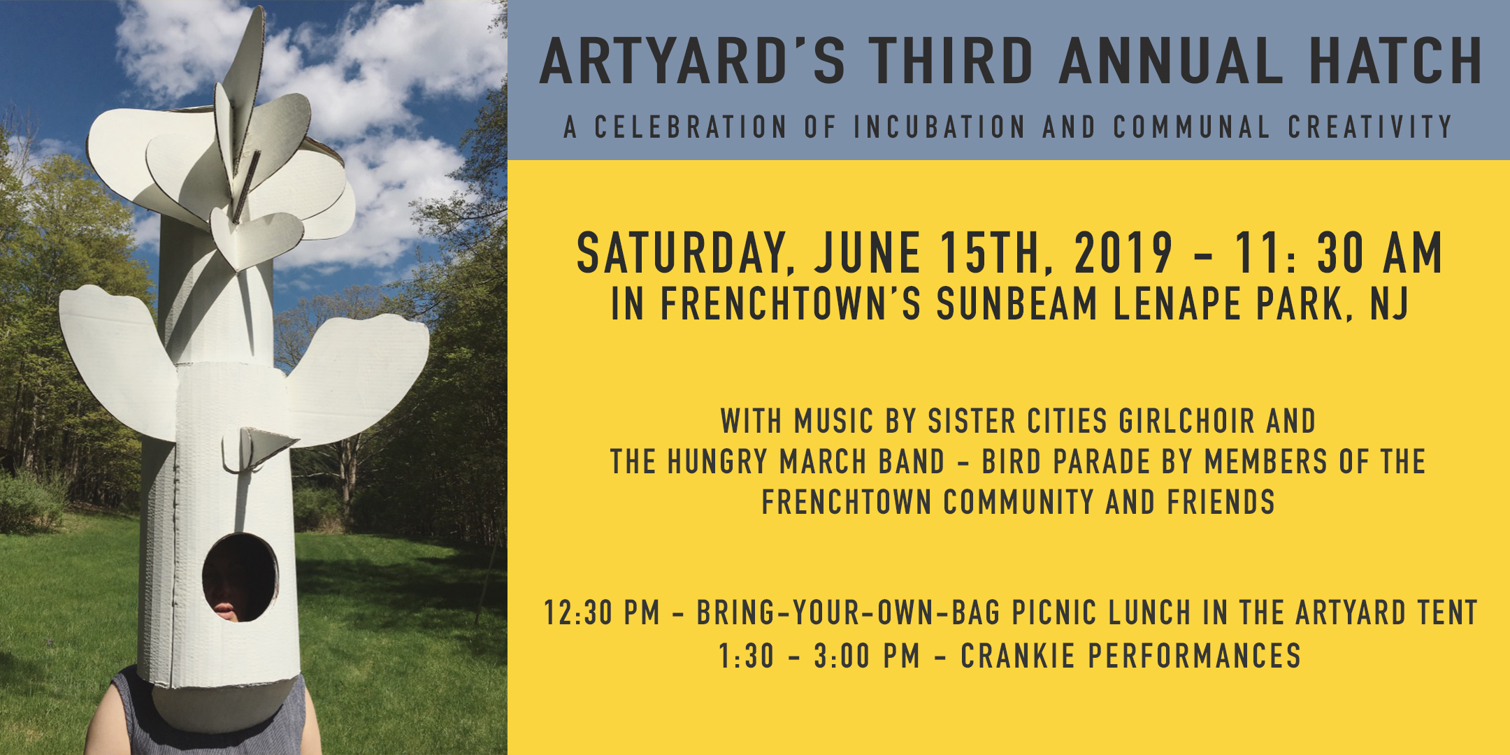 ArtYard's Third Annual Hatch @ Sunbeam Park | Frenchtown | New Jersey | United States