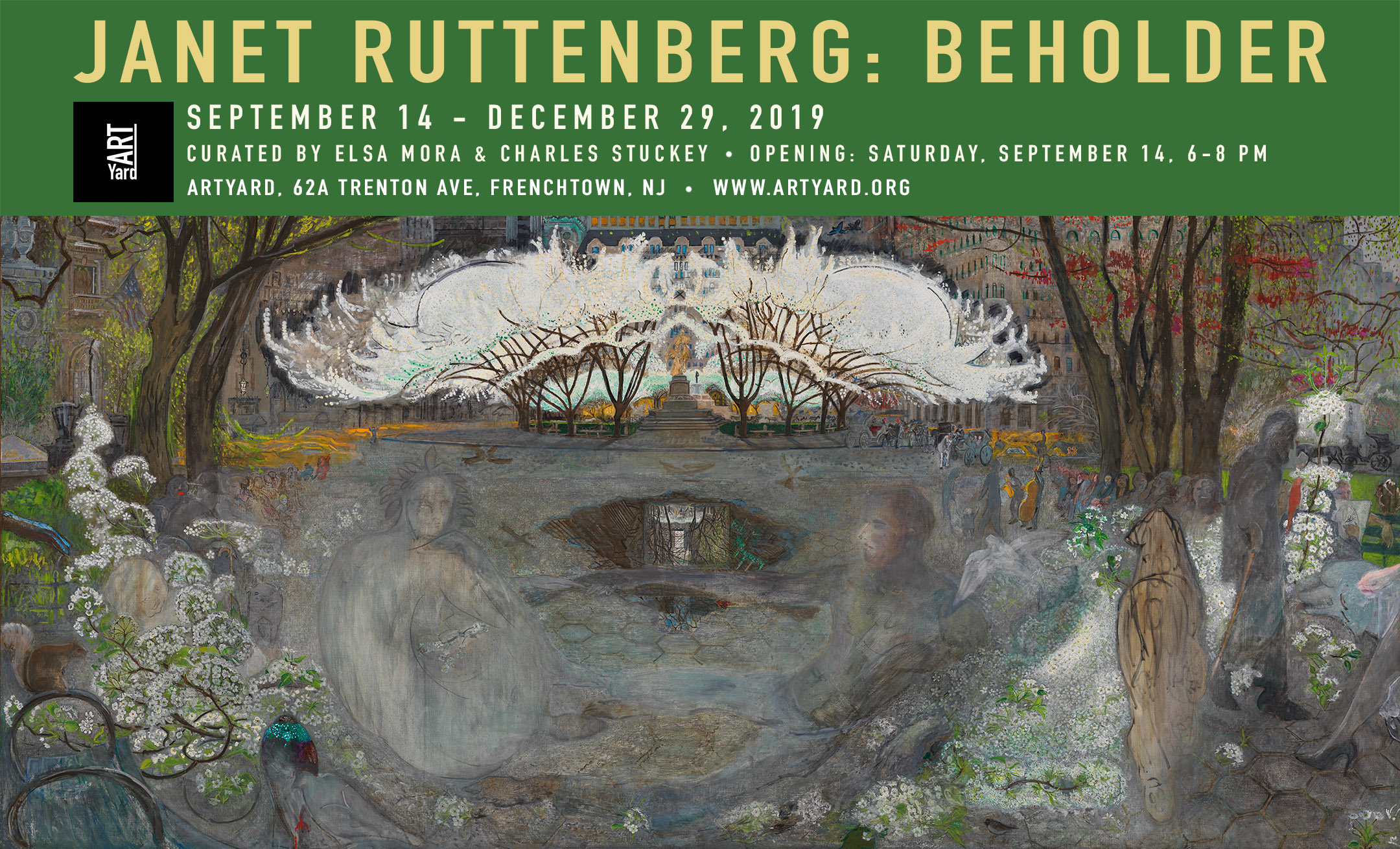 Opening of JANET RUTTENBERG: BEHOLDER @ ArtYard | Frenchtown | New Jersey | United States