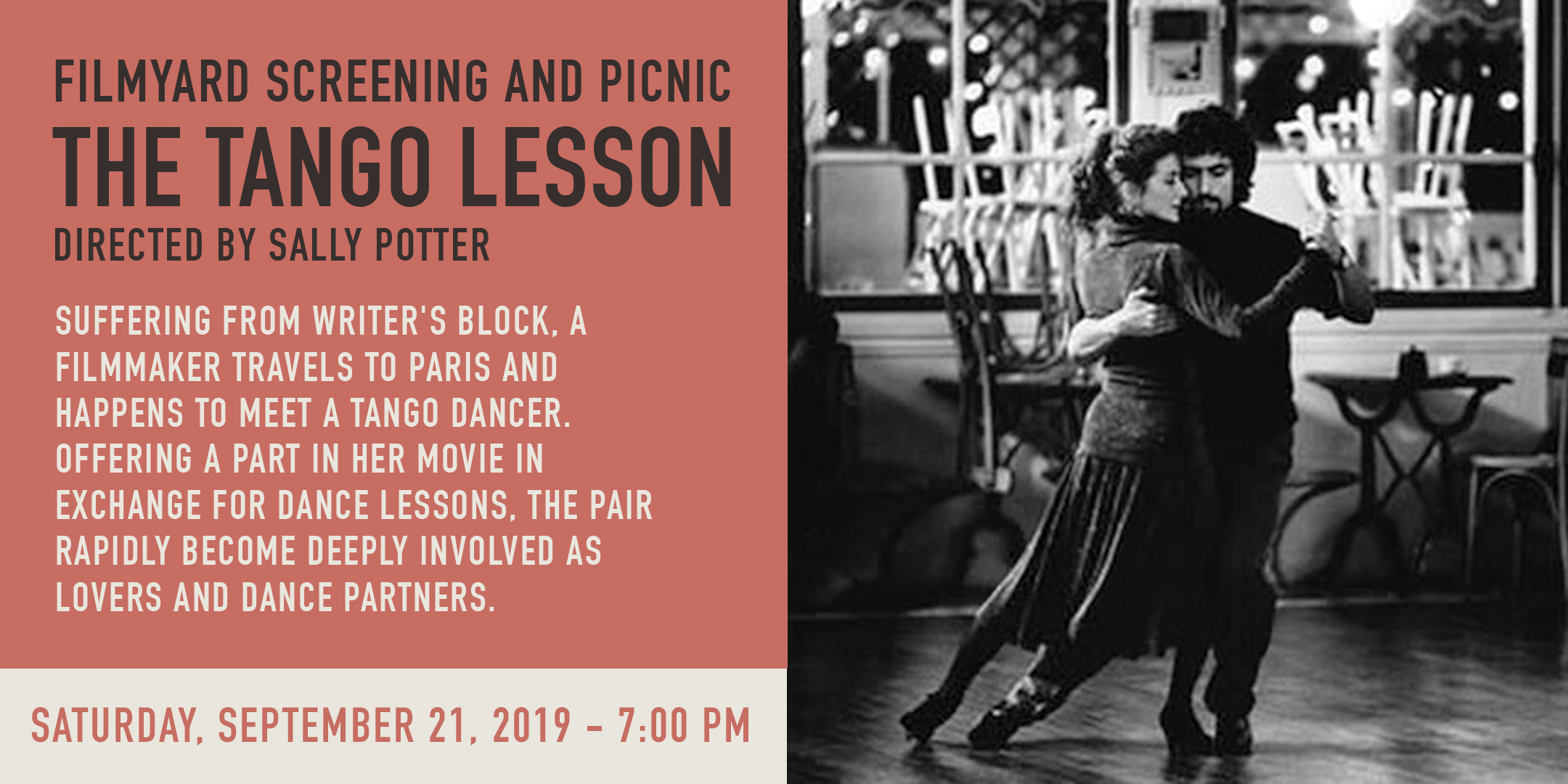 Screening of The Tango Lesson. Followed by Gallery Picnic @ ArtYard's Theater | Frenchtown | New Jersey | United States