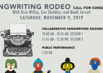 Songwriting Rodeo. (Nov 9, 2019)