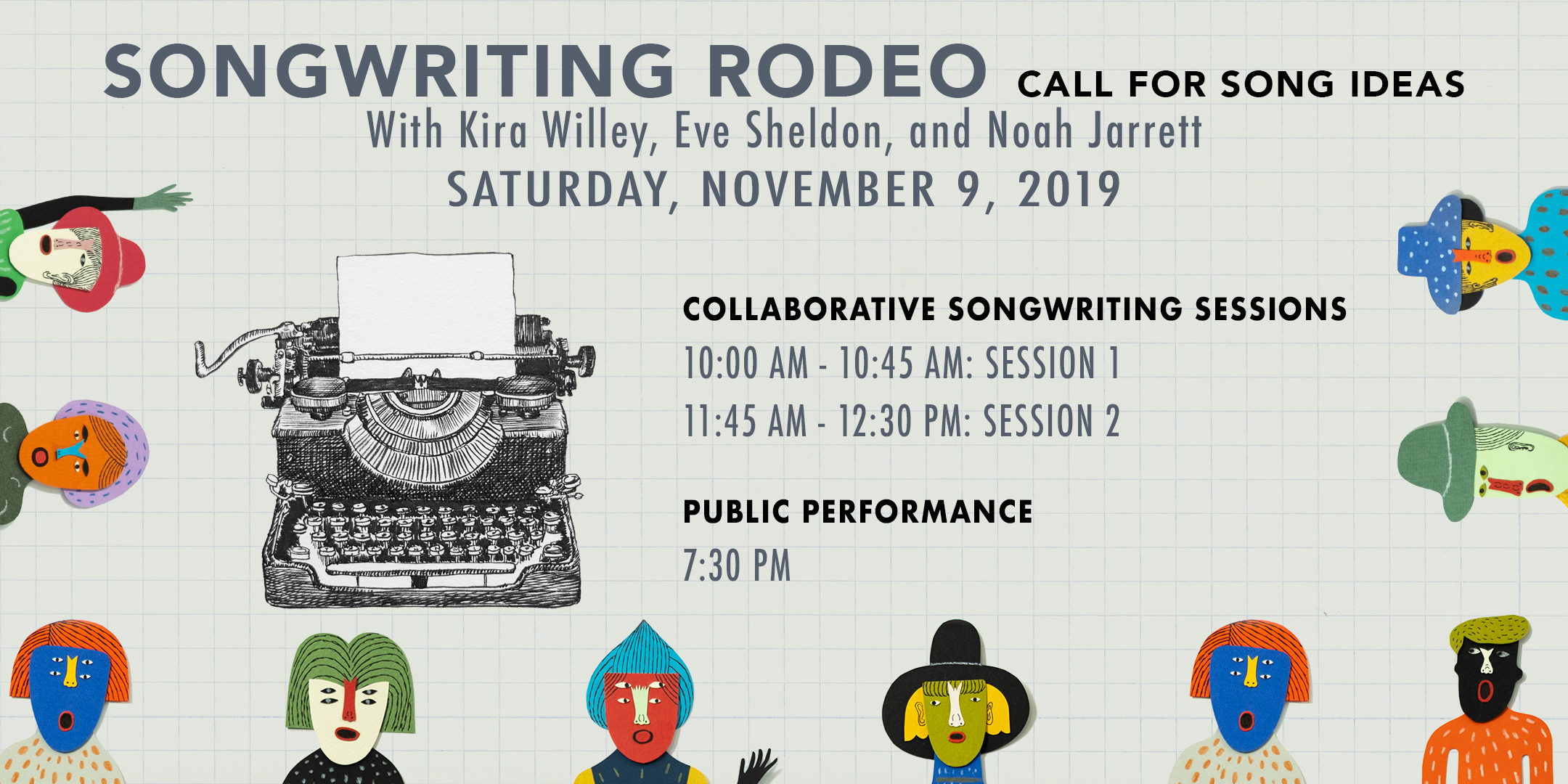 SONGWRITING RODEO. Collaborative songwriting sessions and public performance. @ ArtYard's Theater | Frenchtown | New Jersey | United States