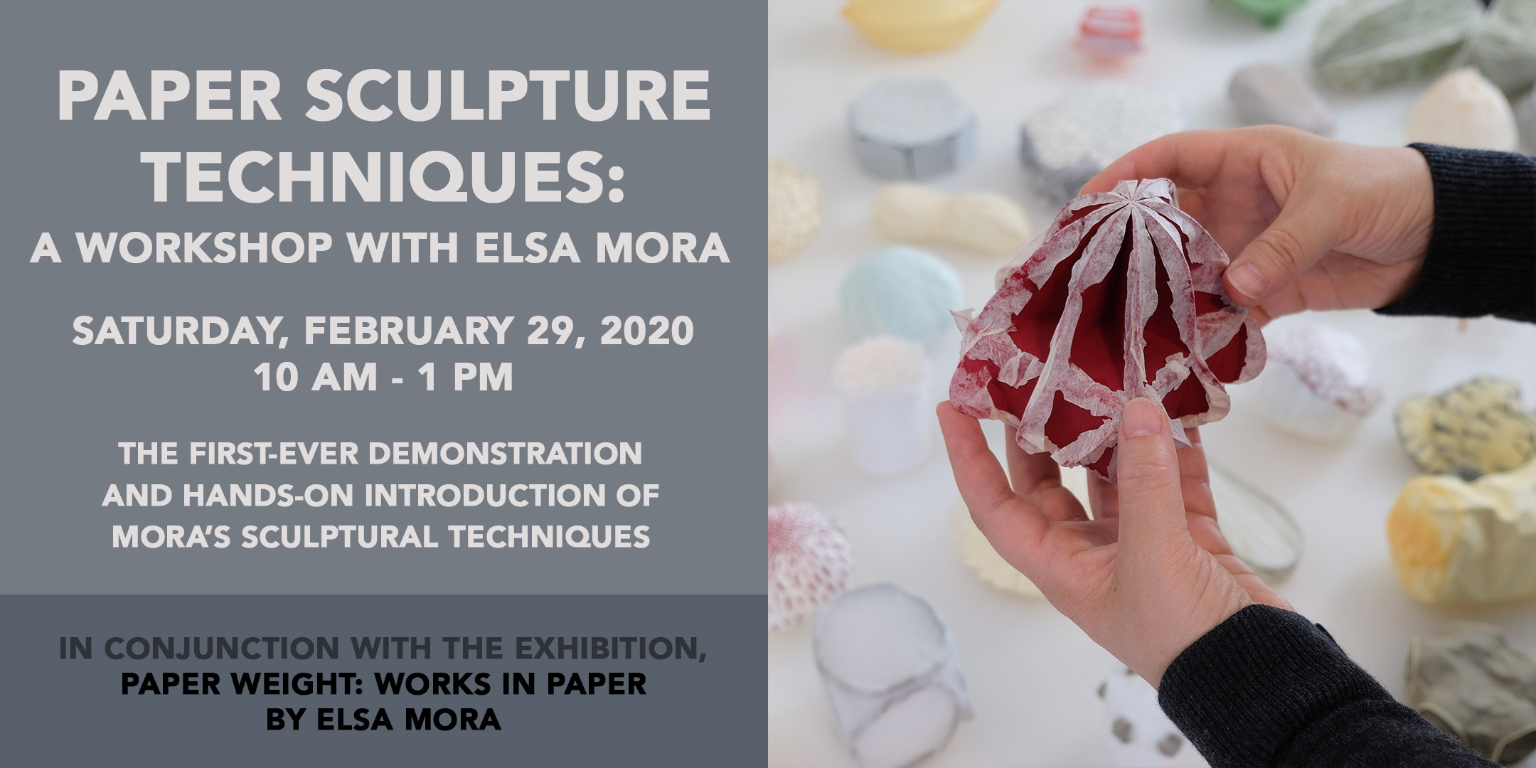 A Workshop with Elsa Mora. Paper Sculpture Tenchniques. @ ArtYard | Frenchtown | New Jersey | United States