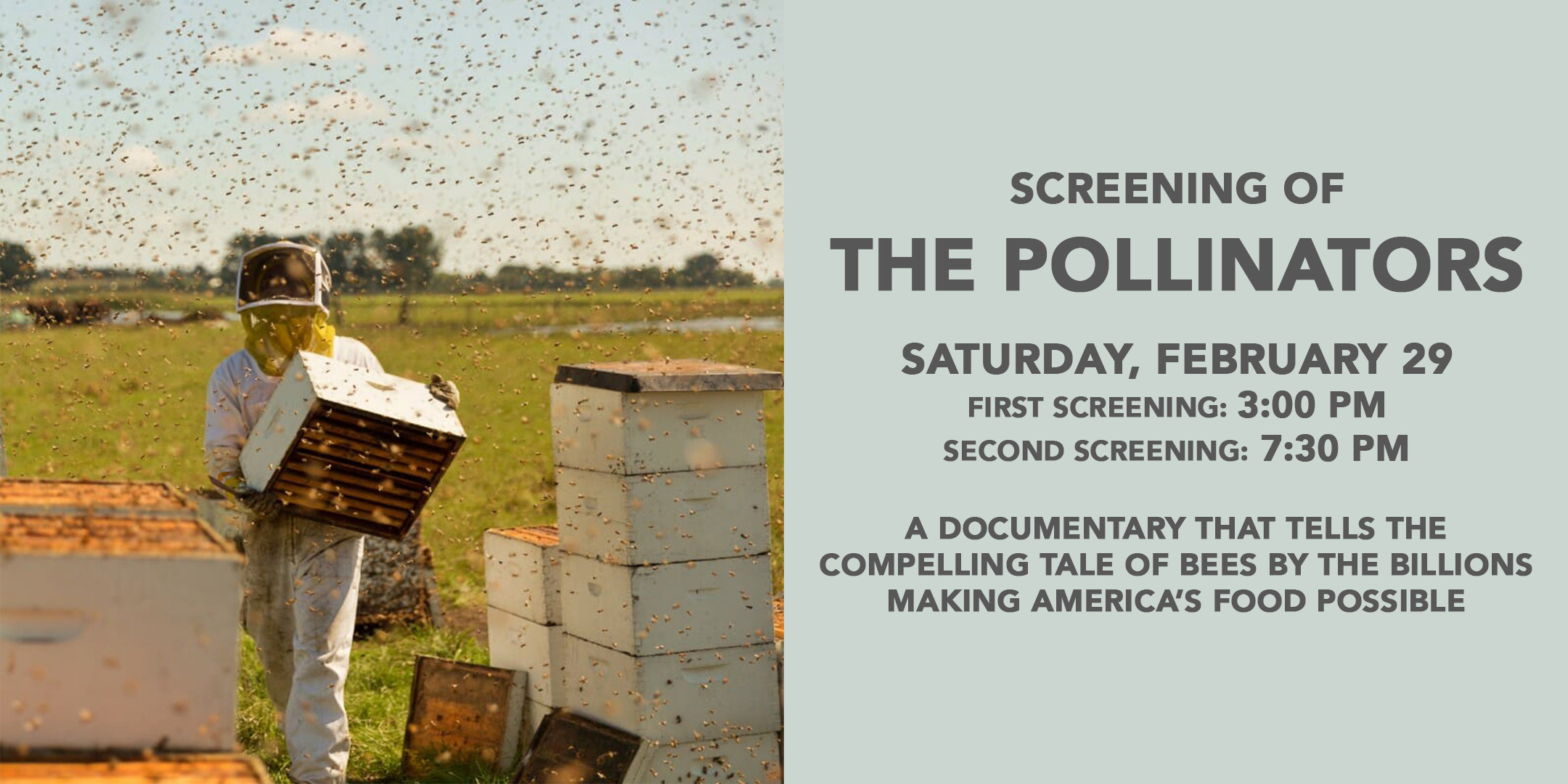 (3:00 PM)Screening of 'The Pollinators' @ ArtYard | Frenchtown | New Jersey | United States