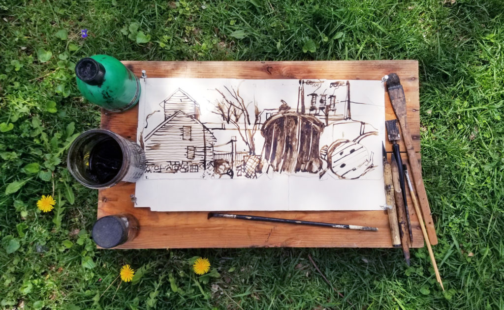Making and Drawing with Walnut Ink