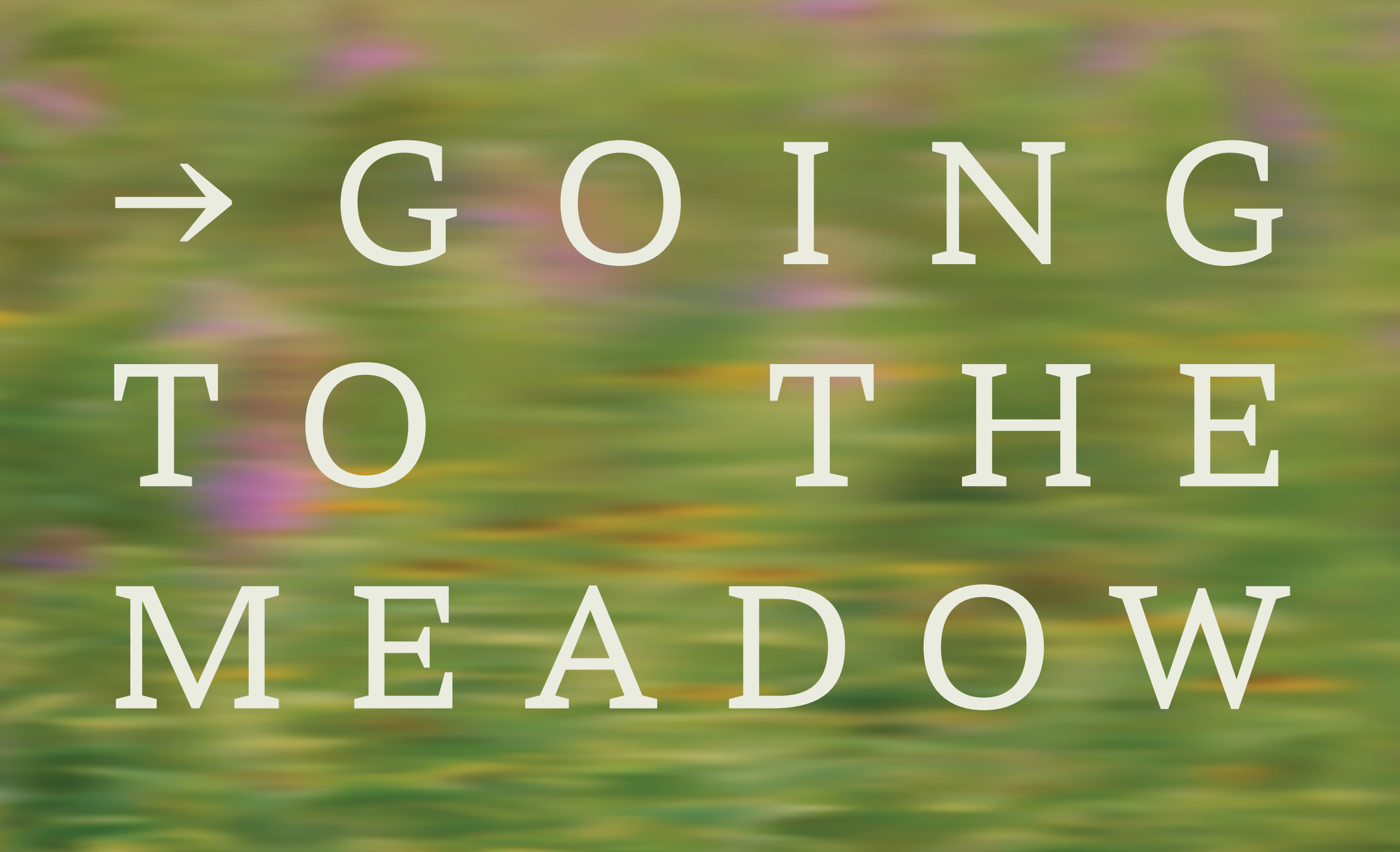 Conversation Series: Going to the Meadow (4th of 4)